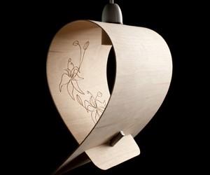 Bent Plywood Pendant Light