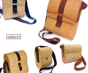 Bent Wood, Leather & Felt Bags for Vonetti