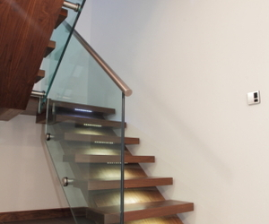 Bespoke Walnut Staircase.