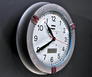 Big Vintage Industrial Cast Aluminum Explosion Proof Clock