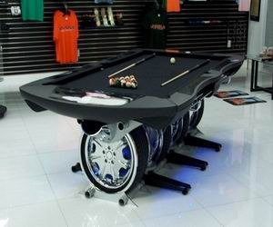 Billiard table for Automotive Enthusiasts