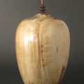 Birch and walnut hollow vessel