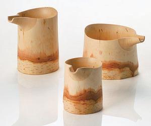 Birch Vessels by Kouta Fukunaga