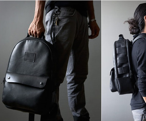 Black Leather Utility Backpack | by Killspencer