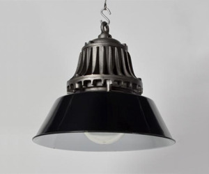 Black Revo Pendants with Glass Domes