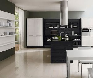 Black & White Minimalist Kitchen Design by Futura Cucine