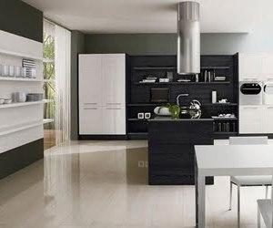 Black & White Minimalist Kitchen Design by Futura Cucine