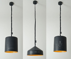 Blackboard Coated Pendant Lamps - A Canvas For Creativity.