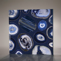 Blue Geodes Light, New Glass Product from Livinglass