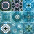 Blue Glitz Tiles by Dominic Crinson
