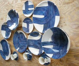 Blue Spaghetti Porcelain