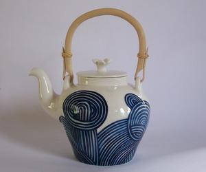 Blue Spaghetti Porcelain Teapot