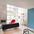 Blue Wall Accent Interior by RWH Design