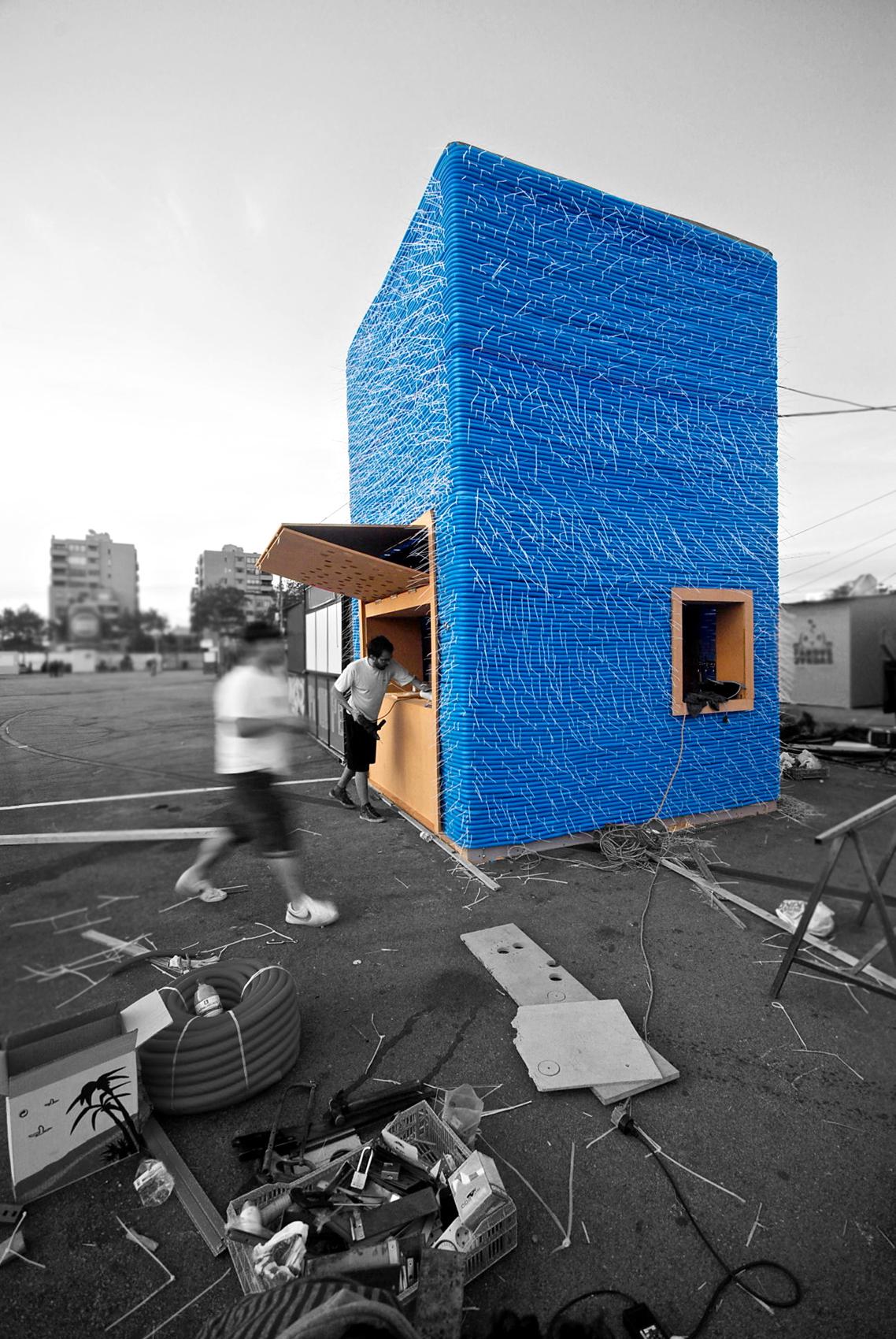 Bar Construction Materials : Bluetube bar unique construction material
