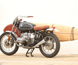BMW R65 Scrambler With Surfboard Rack