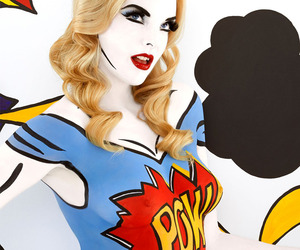 Body Paint Artist Emma Hack Goes POP!