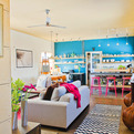 Bold and colorful industrial loft by Envi Design