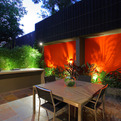 Bold Feature Wall for Birchgrove Courtyard Design