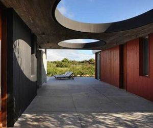 Red Black Interiors in Uraguay by Martin Gomez Arquitectos
