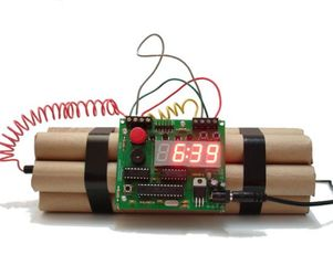 Bomb Alarm Clock that can be diffused as well