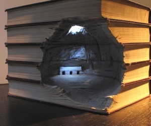 Book Carving Landscapes by Guy Laramee