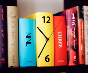 Karlsson Book Clock