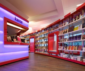 Book Shelves for Shops Paagman by Cube Architects
