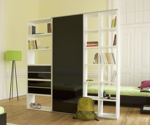 Bookcase with Sliding Glass Doors by Pombal
