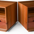 Bookmatched Pair of Modern NIghtstands