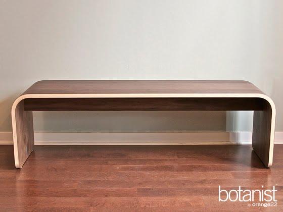 Botanist Minimal All Wood Bench