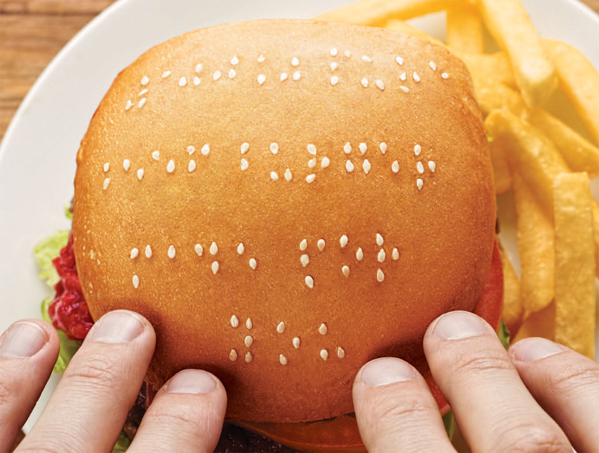 Braille Burger Buns Spreads The Word For Wimpy
