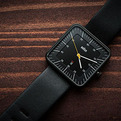Braun Black Date Leather Watch