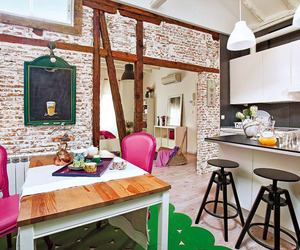 Bright and Colorful Shabby Chic Attic in Madrid