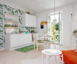 Bright and colorful small apartment