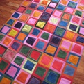 Bright Dyed Cow Hide Patchwork Rug