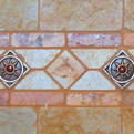 Bronze Tile with Red Jasper