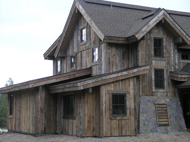Brown barn wood siding for Wood barn homes