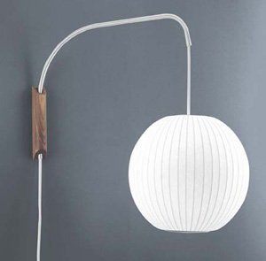 White Swing Arm Wall Sconce