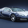 Bugatti Veyron L'Or Blanc Sports Car with porcelain fittings