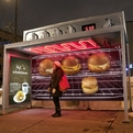 Bus Shelter Oven Ad Warms Commuters