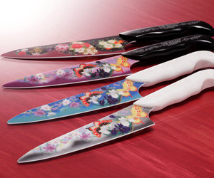 Butterflies on a Ceramic Knife