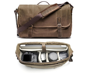 Camera and Laptop Messenger Bag