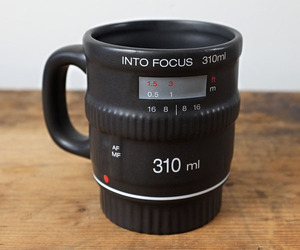 Into Focus Mug, Camera Lens Mug
