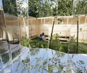Camouflaged Artist Studio is Clad in Mirrors