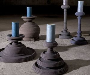 Candle Stands Made Of Felt By Siba Sahabi