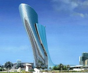 Capital Gate Tower in Abu Dhabi