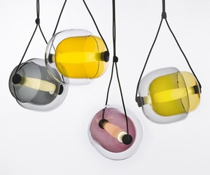 Capsula pendant lights by Lucie Koldova