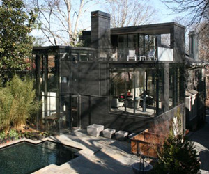 Captivating glass house features creative design
