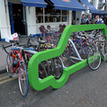Car-shaped Bike Rack by Cyclehoop