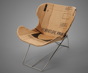 Cardboard Chair by Dan Goldstein